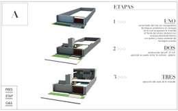 Casa GS:  de estilo  por LOSAVALOS - Oficina de Arquitectura