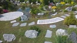 natürliche Teichanlage: mediterraner Garten von Neues Gartendesign by Wentzel