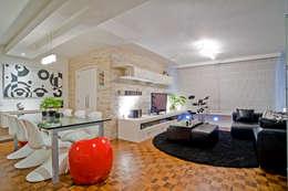 Salas : Salas de estar modernas por Patrícia Azoni Arquitetura + Arte & Design