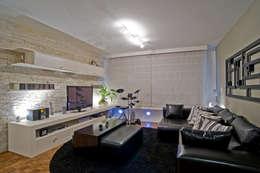 Salle multimédia de style  par Patrícia Azoni Arquitetura + Arte & Design