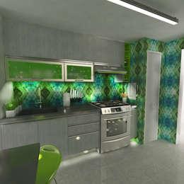 Cocinas de estilo moderno por OPFA Diseños y Arquitectura