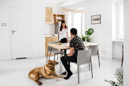 minimalistic Dining room by Joanna Kubieniec