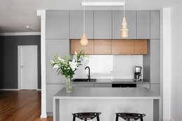 Mieszkanie Tychy: styl , w kategorii Kuchnia zaprojektowany przez Joanna Kubieniec