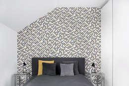 Mieszkanie Tychy: styl , w kategorii Sypialnia zaprojektowany przez Joanna Kubieniec