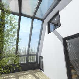 Surélévation partielle d'immeuble en plein cœur de Paris: Jardin d'hiver de style  par Hanuman Architecture