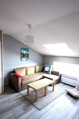 Amnios: modern tarz Oturma Odası