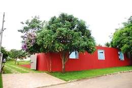 Casas de estilo  por Mônica Mellone Arquitetura