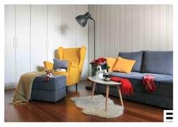 Salon de style de style Scandinave par WZ STUDIO