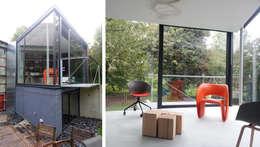 En toute discrétion...: Salon de style de style Moderne par VORTEX atelier d'architecture