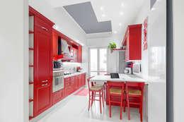 white apartment: Cucina in stile in stile Moderno di Cstudio Architettura & Design