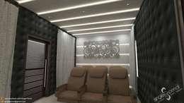 Satyanarayana: modern Living room by single pencil architects & interior designers