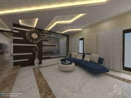 Prabhakar: modern Living room by single pencil architects & interior designers