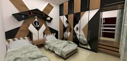 Bedroom designs: modern Bedroom by single pencil architects & interior designers