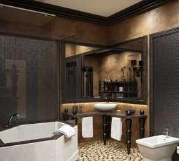 Baños de estilo  por Студия дизайна 'New Art'