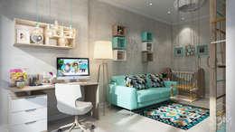 Проект 038: детская + гардеробная: Детские комнаты в . Автор – студия визуализации и дизайна интерьера '3dm2'
