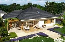 Projekt domu Flo III G1 : styl nowoczesne, w kategorii Domy zaprojektowany przez Pracownia Projektowa ARCHIPELAG