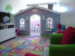 Projeto Casa Cor Alagoas - revestimento de parede: Quarto infantil  por Complementto D