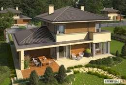 Casas de estilo mediterraneo por Pracownia Projektowa ARCHIPELAG
