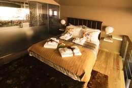 غرفة نوم تنفيذ RH Casas de Campo Design