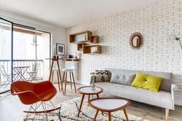 غرفة المعيشة تنفيذ Transition Interior Design