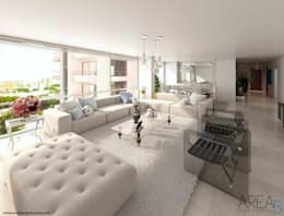 Livings de estilo moderno por Area5 arquitectura SAS