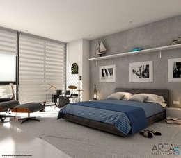Morano Mare - Alcoba secundaria: Habitaciones de estilo moderno por Area5 arquitectura SAS