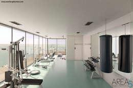 Gimnasios en casa de estilo moderno por Area5 arquitectura SAS
