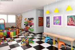 modern Nursery/kid's room by Area5 arquitectura SAS