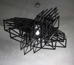 Lampa BLACK STAR: styl , w kategorii Korytarz, hol i schody zaprojektowany przez Nasu
