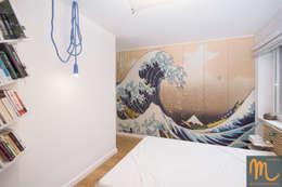 NA FALI: styl , w kategorii Sypialnia zaprojektowany przez studio m Katarzyna Kosieradzka