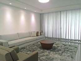 Apartamento em Divinópolis - MG: Salas de estar minimalistas por Filipe Castro Arquitetura | Design
