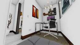 : Salas multimedia de estilo moderno por OGGETTO ARQUITECTOS