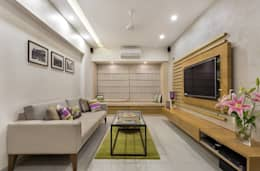 JANKI KUTIR APARTMENT: modern Living room by The design house
