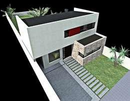 Casas de estilo moderno por epb arquitectura
