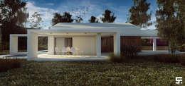 Casa de campo: Casas de estilo moderno por SF Render