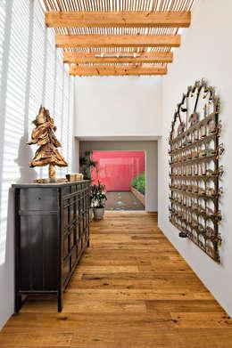Casa las Moras : Pasillos y recibidores de estilo  por Lopez Duplan Arquitectos