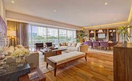 رہنے کا کمرہ  by Lopez Duplan Arquitectos