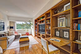 Salas multimedia de estilo moderno por Lopez Duplan Arquitectos