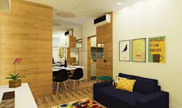 Гостиная в . Автор – Isadora Cabral Arquitetura