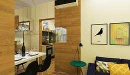 Projekty,  Salon zaprojektowane przez Isadora Cabral Arquitetura