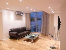 Playroom y sala de estar: Salas multimedia de estilo moderno por Estudio BASS Arquitectura