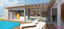 CF317 | área de lazer e piscina: Piscinas modernas por .Villa arquitetura e algo mais