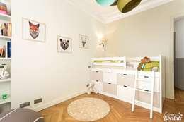 Child Bedroom Paris: Chambre d'enfant de style de style Moderne par Carnets Libellule