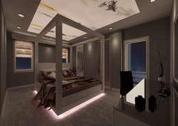 PRATIKIZ Mimarlık/ Architecture – Yatak Odası:  tarz İç Dekorasyon