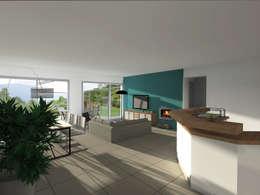 Rénovation d'une maison de ville: Salon de style de style Moderne par Sarah Archi In'