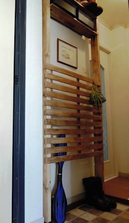 玄関収納: ブログdeソーイングが手掛けた玄関&廊下&階段です。