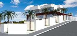 Casas de estilo moderno por Dennis Machado Arquiteto e Urbanista