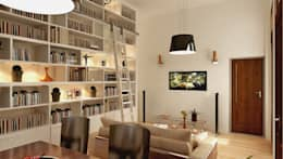 REMODELACION Y AMPLIACION PH BARRACAS, C.A.B.A: Livings de estilo moderno por Arquitecta MORIELLO