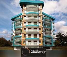 ORUNproje – Defne Konutları: akdeniz tarzı tarz Evler