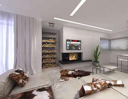 Дизайн интерьера гостиной. Шкуры на пол!: Гостиная в . Автор – A-partmentdesign studio